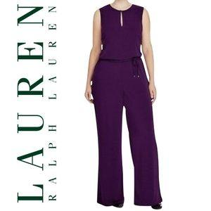Ralph Lauren Purple Keyhole Sleeveless Jumpsuit